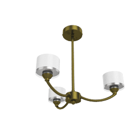 Paige Ceiling Light, 3 Arm, Antique Brass
