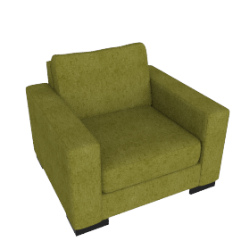 Signature Armchair, Dark lime