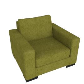 Signature Armchair, Dark lime