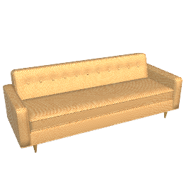 "Bantam Sofa - 86"", Gold"
