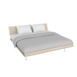 Nelson Thin Edge King Bed, H-Frame Legs, Ash