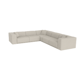 Kelston Corner Sectional Left-Facing, Leather Gesso