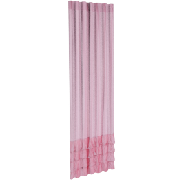Amanda Ruffles 2-Piece Curtain Set - 135x240 cms, Pink