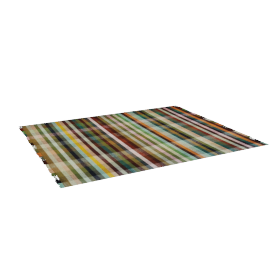 Multitone Rug, 8x10, Dark Multi