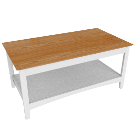 Alba Coffee Table, Soft Grey/Oak