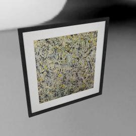 Jackson Pollock Number 4 Framed Print, 70 x 68cm