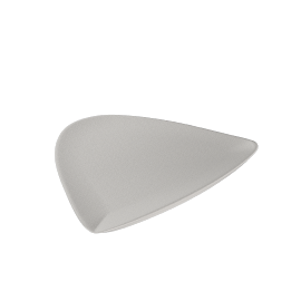 Denby White Serve Large Triangular Plate, 32cm