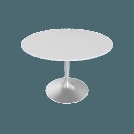 Saarinen Round Dining Table 42'', Laminate - Platinum.White