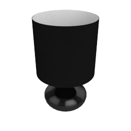Zachari Touch Table Lamp, Black