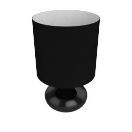 Zachari Touch Table Lamp, Black