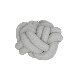 Knot Pillow, Light Grey