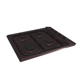 Hotpoint G640SB Gas Hob, Brown
