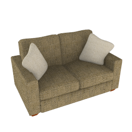 Gino Small Sofa, Stone
