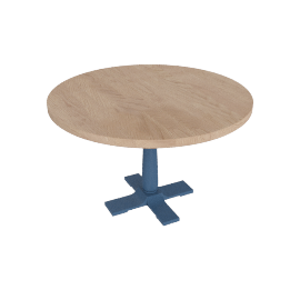 Pinner Round Dining Table, Atlantic Blue