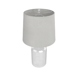 Altarf Glass Jar Table Lamp 65Cmh -Clear-3Pin