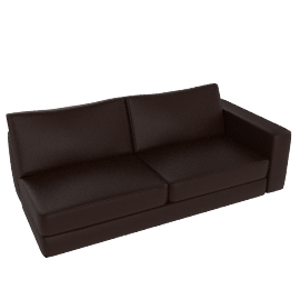 Reid One-Arm Sofa, Right in Leather, Stout