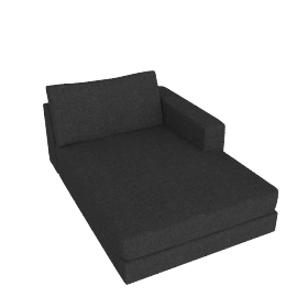 Reid Chaise in Fabric, Right