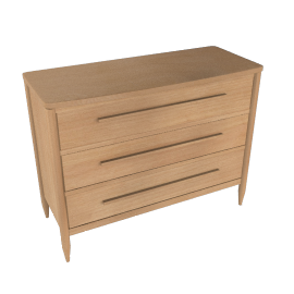 ercol for John Lewis Chiltern Bow 3-drawer Chest