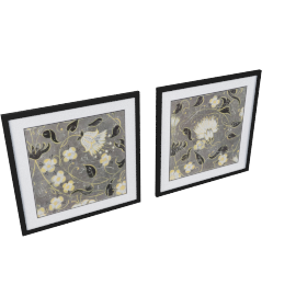 Mille Fleurs 2-Piece Picture Frame Set - 24x24x0.5 inches