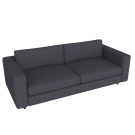 Reid 86'' Sofa in fabric, Pebble Weave Pumice