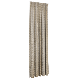 Chinelle Waves Curtain Pair - 135x300 cms, Cream