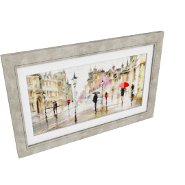 Richard Macneil - Stroll in the Rain Framed Print, 113 x 73cm