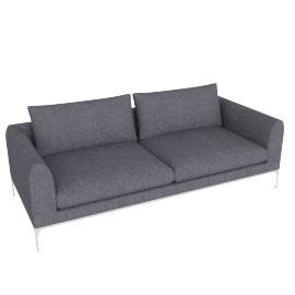 Jonas Sofa, Fabric: Pebble Weave Pumice Leg: Aluminum