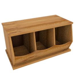 Storage Box Triple, Oak