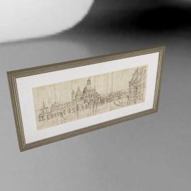 Adelene Fletcher - Venetian Vista Framed Print, 100 x 50cm
