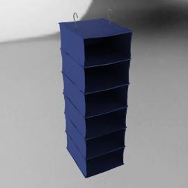 Wardrobe Hanging Organiser, Navy/Blue