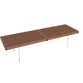 Nelson Platform Bench, 60'' with Metal Legs