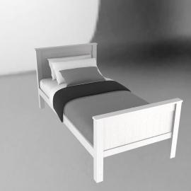 Ashton white bed, 90cm, single