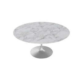 Saarinen Round Dining Table 60'', Calacatta - Plt.Calacatta