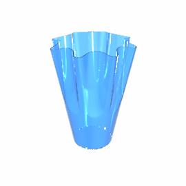 Handkerchief Vase, Sapphire, H30cm