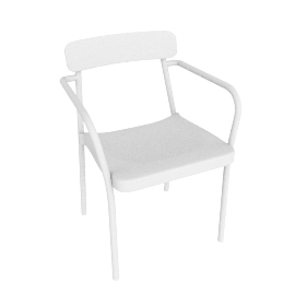 Grace Armchair, White