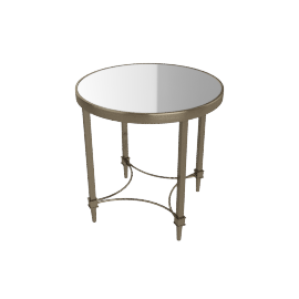 Veneto End Table, Antique Brass