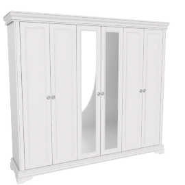 Grandview 6Dr Wardrobe, White