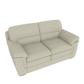 Taylor 2-Seater Sofa with Splayed Arms, White