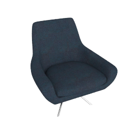 Noomi Swivel Chair, Petrol