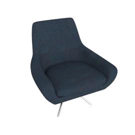 Noomi Swivel Chair, Petrol