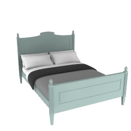 Louisa Kingsize Bedstead, Duck Egg