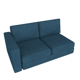 Eterno 2- Seater Sofa with Left Armrest, Blue