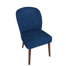 Margot Dining Chairs, Electric Blue Velvet