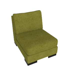 Signature 1 Seater Armless, Dark lime
