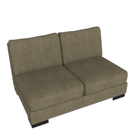 Signature 2 Seater Armless, Camel