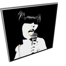 Glam Rock II by KelliEllis - 54''x54'', Silver