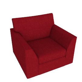 Jacob Armchair, Bowden Cranberry