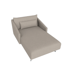 Costura Chaise, Flax Linen