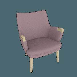 CH71 Lounge Chair, Peony