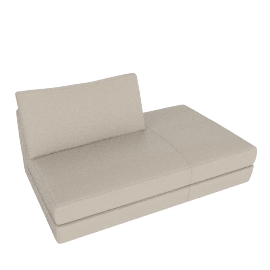 Reid Side Chaise Right, Vienna Leather Powder